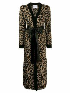 Blumarine leopard print cardi-coat - Neutrals