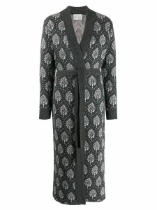 Blumarine patterned cardi-coat - Grey