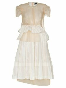 Simone Rocha Chloe deconstructed midi dress - Neutrals