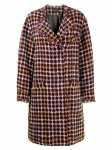 Isabel Marant oversized Zaban tweed coat - Purple