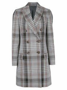 Brunello Cucinelli plaid midi coat - Black