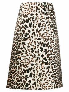 Prada leopard print skirt - Neutrals