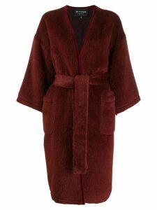 Etro belted midi coat - Red