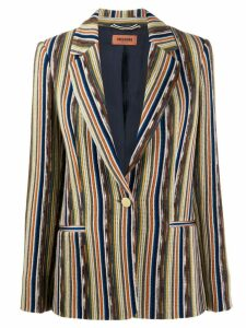 Missoni striped slim-fit blazer - Orange