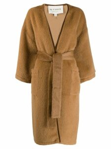 Etro belted midi coat - Neutrals
