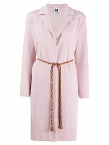 M Missoni long belted blazer - PINK