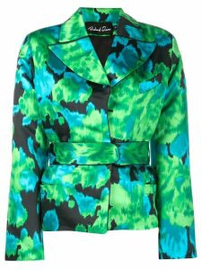 Richard Quinn floral print cinched jacket - Green