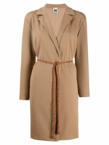 M Missoni long belted blazer - Neutrals