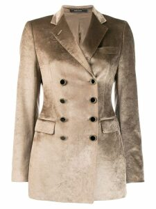 Tagliatore double buttoned blazer - Brown