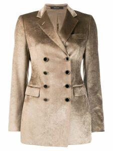 Tagliatore double buttoned blazer - Brown