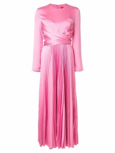 Solace London pleated long dress - Pink