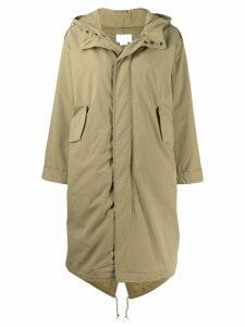 A.P.C. boxy parka coat - Green