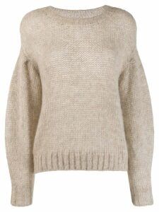 Closed chunky knit sweater - Neutrals