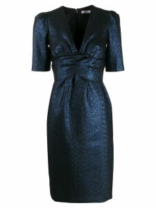 P.A.R.O.S.H. glitter detail fitted dress - Blue