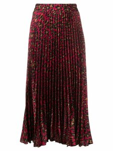 Shirtaporter leopard print skirt - Red