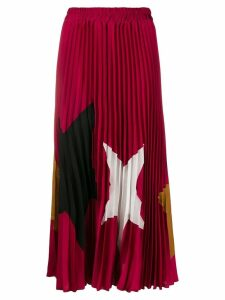 Shirtaporter star print pleated skirt - Pink