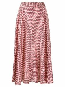 Shirtaporter patterned skirt - Red