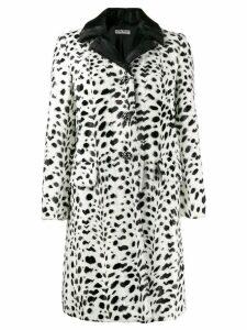Miu Miu polka dot printed coat - White