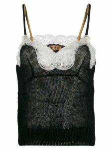Nº21 mohair lace knitted top - Black