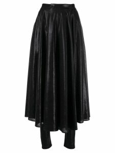 MSGM shiny leggings skirt - Black