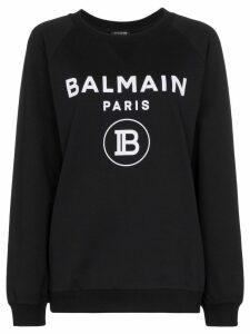 Balmain logo-print jumper - Black