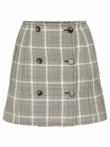 Stella McCartney Prince of Wales checked mini skirt - Brown