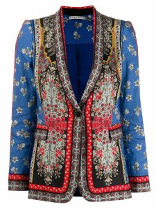 Alice+Olivia printed shawl blazer - Blue