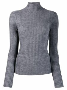 Plan C turtleneck knit sweater - Grey