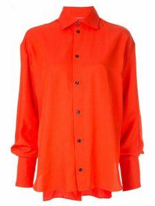 Maticevski oversized classic shirt - Red