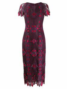 Talbot Runhof fitted midi dress - Purple
