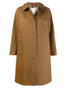Mackintosh FAIRLIE Brown x Leopard Bonded Cotton Coat LR-079
