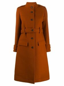 Chloé single-breasted coat - Brown