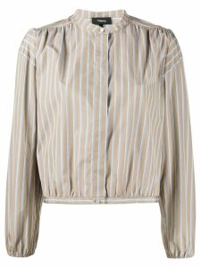 Theory mandarin collar shirt - Brown