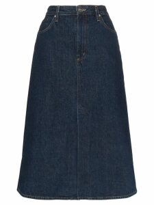 GOLDSIGN A-line denim midi skirt - Blue