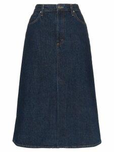 GOLDSIGN A-line denim midi skirt - Blue
