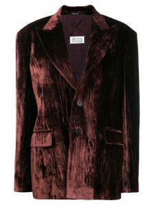 Maison Margiela velvet split back blazer - Brown