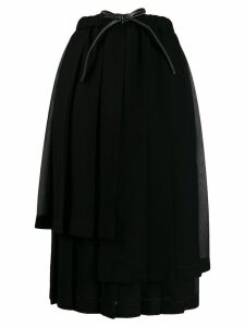 Loewe pleated layer skirt - Black