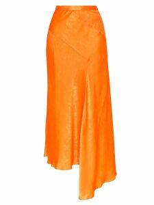 House of Holland asymmetric midi skirt - Orange