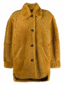 Isabel Marant Sarvey shearling coat - Yellow