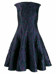 Talbot Runhof fancy beast jacquard dress - Green