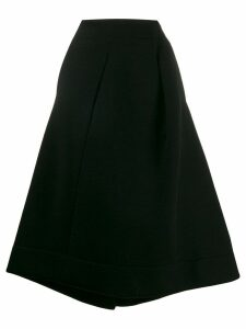 Jil Sander deconstructed flared skirt - Black