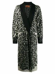 Missoni leopard print knitted coat - Black
