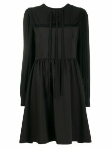 Blumarine long sleeved mini dress - Black