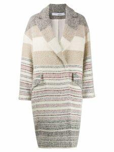 IRO Loux striped coat - NEUTRALS
