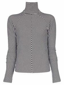 Haider Ackermann striped turtleneck jumper - Black
