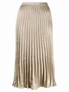 DKNY pleated midi skirt - Gold