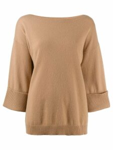 P.A.R.O.S.H. cropped sleeves jumper - Neutrals