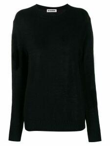 Jil Sander oversized knitted sweater - Black