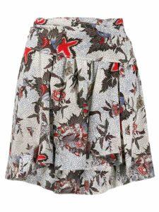 Isabel Marant printed mini skirt - Neutrals