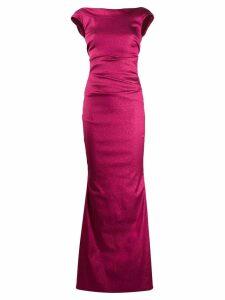 Talbot Runhof low back long dress - Pink